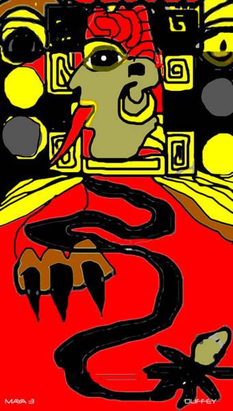 Photograph - Maya Red Yellow Black by Doug Duffey