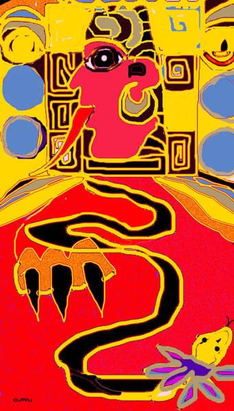 Photograph - Maya Red Yellow Blue by Doug Duffey