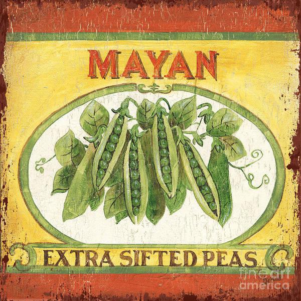 Rustic Painting - Mayan Peas by Debbie DeWitt