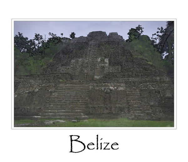 Archeology Digital Art - Mayan Temple by Brandon Bourdages