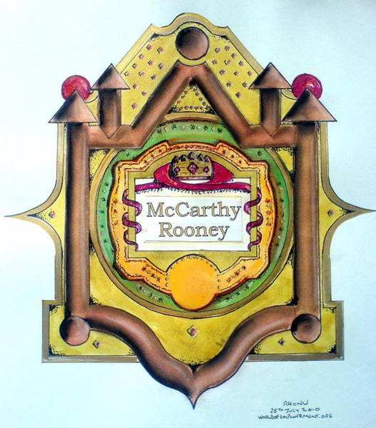 Mccarthy-rooney Family Crest Art Print