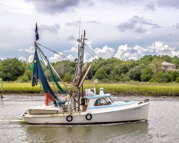 Photograph - Mcclellanville Shrimp Boat by Mike Covington