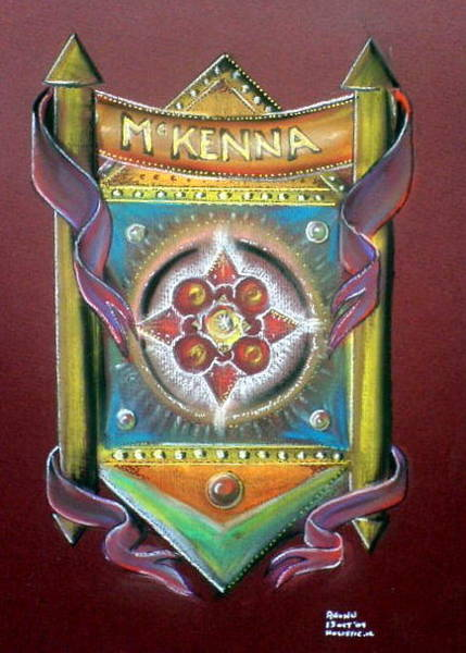 Painting - Mckenna Family Crest by Ahonu