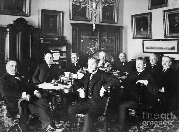 Membership Photograph - Mckinley & Cabinet, 1900 by Granger