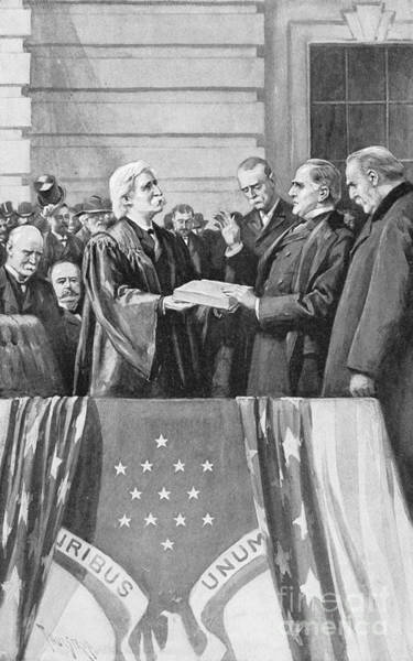 Melville Photograph - Mckinley Taking Oath, 1897 by Granger