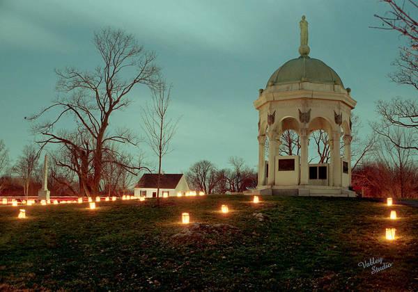 Luminaries Photograph - Md. Monument And Dunker Church 11 by Judi Quelland