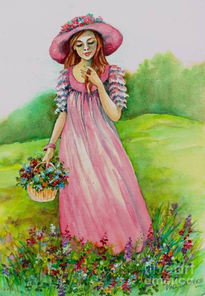 Painting - Meadow Maid by Val Stokes