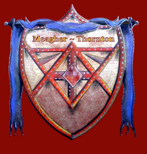 Painting - Meagher-thornton Family Crest by Ahonu