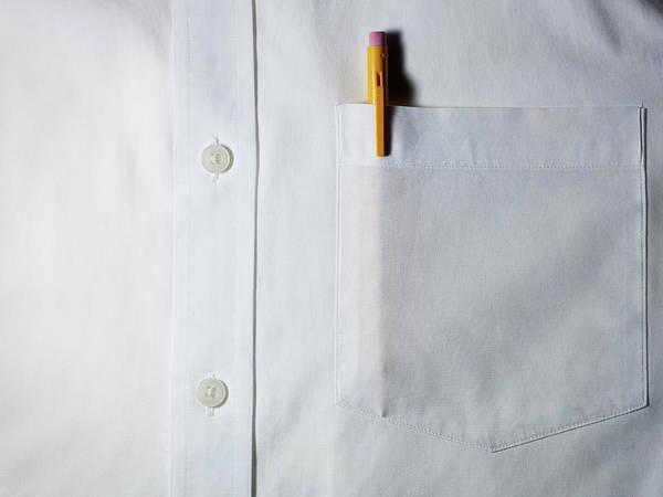 Photograph - Mechanical Pencil In White Shirt Pocket. by Ballyscanlon