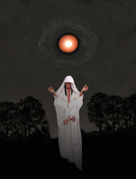 Mixed Media - Meditating Yoga Guru by Eric Kempson