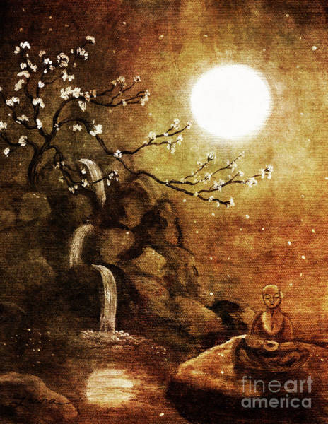 Sepia Painting - Meditation Beyond Time by Laura Iverson