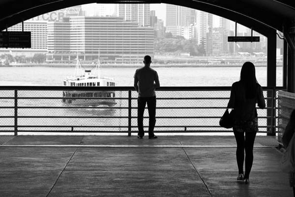 Encounter Bay Photograph - Meet Me By The Bay  B And W by Valentino Visentini