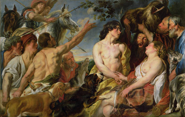 Tragedy Painting - Meleager And Atalanta by Jacob Jordaens