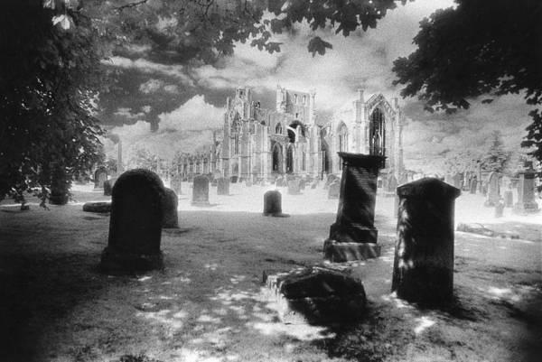 Grave Yard Photograph - Melrose Abbey by Simon Marsden