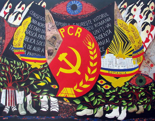 Ceausescu Wall Art - Painting - Memories From Communism by Claudia French
