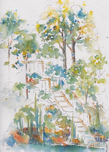 Painting - Memories Lucien Lake by Pat Katz