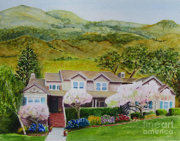 Painting - Memories Of The Family Home by Karen Fleschler