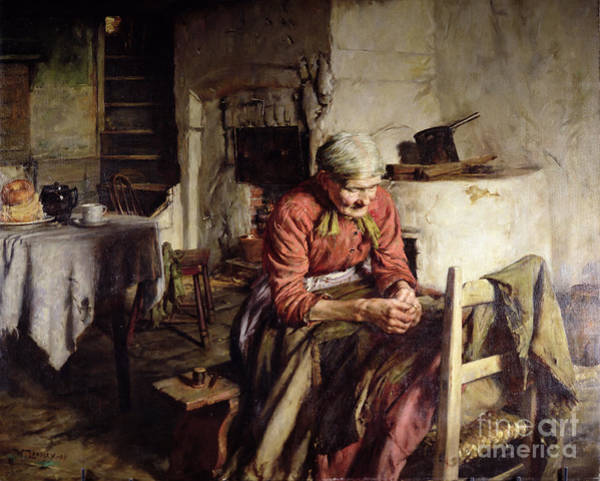 Newlyn Painting - Memories by Walter Langley