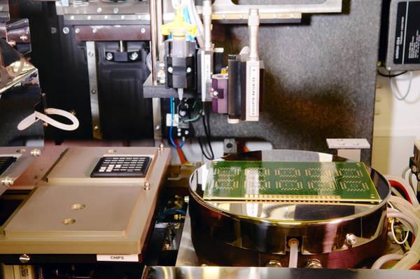 Microelectromechanical Systems Wall Art - Photograph - Mems Production, Flip Chip Bonding by Colin Cuthbert
