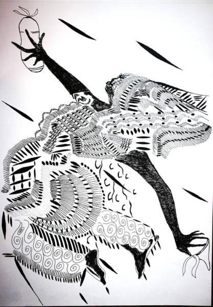 Drawing - Mende Dance - Sierra Leone by Gloria Ssali