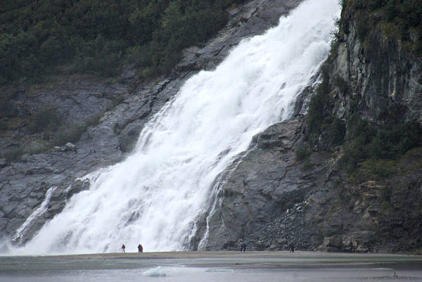 Photograph - Mendenhall Glacier Nugget Falls Waterfall by Marilyn Wilson