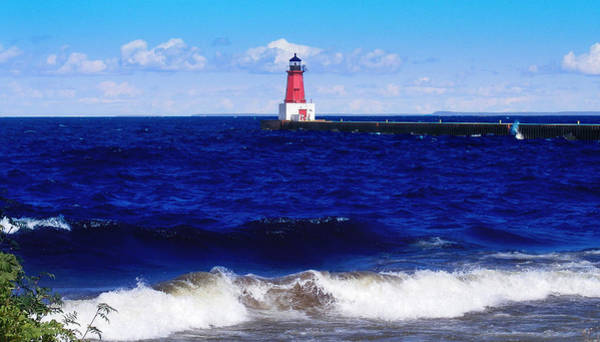 Photograph - Menominee Michigan North Pier Lighthouse  by Ms Judi