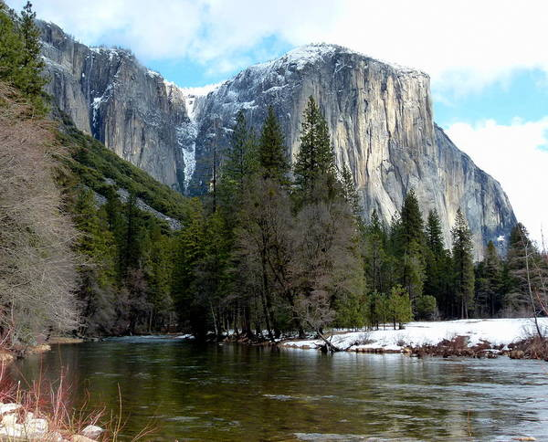 Photograph - Merced River View And El Capitan by Jeff Lowe