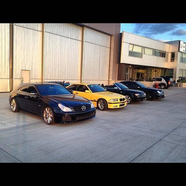Audi Photograph - #mercedes #benz #black #cls63 #e55 #amg by Tyler Unruh
