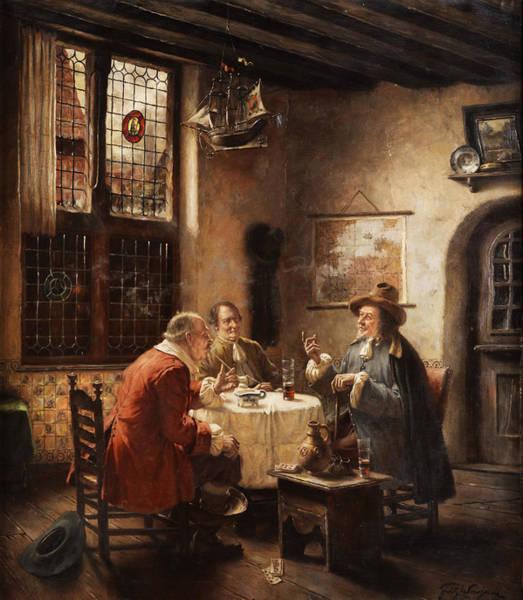 Merchant Painting - Merchants by Fritz Wagner