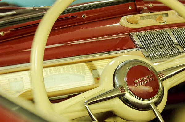 Photograph - Mercury 8 Steering Wheel by Jill Reger