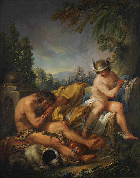 Allegory Wall Art - Painting - Mercury And Argus by Charles Andre van Loo