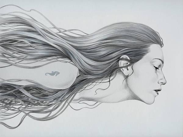 Wall Art - Digital Art - Mermaid by Diego Fernandez
