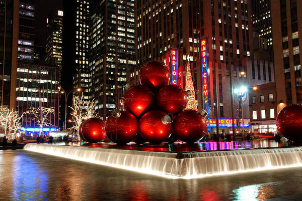 Merry New York City Christmas Art Print