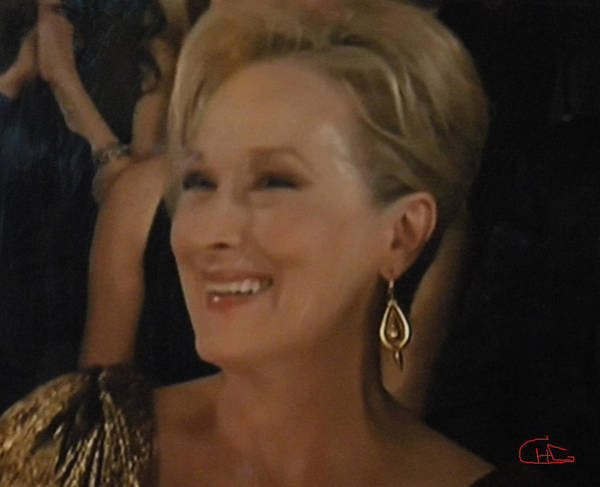 Photograph - Meryl Streep Portrait  by Colette V Hera  Guggenheim
