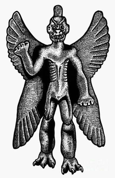 Photograph - Mesopotamian Demon by Granger