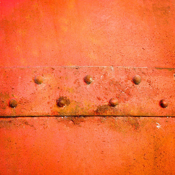Oxidized Photograph - Metal Background by Tom Gowanlock