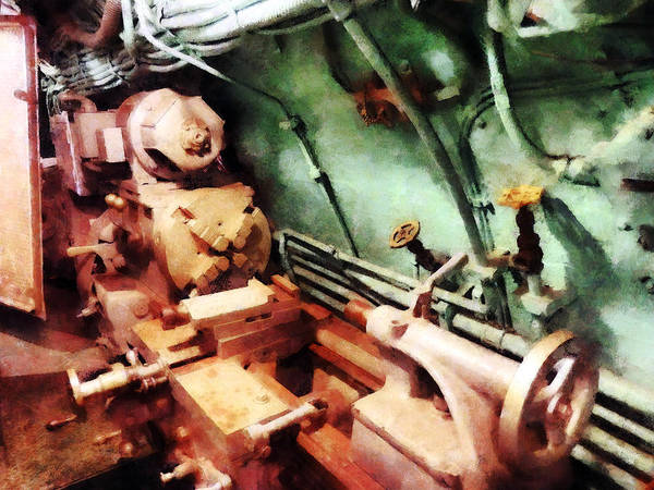 Photograph - Metal Lathe In Submarine by Susan Savad
