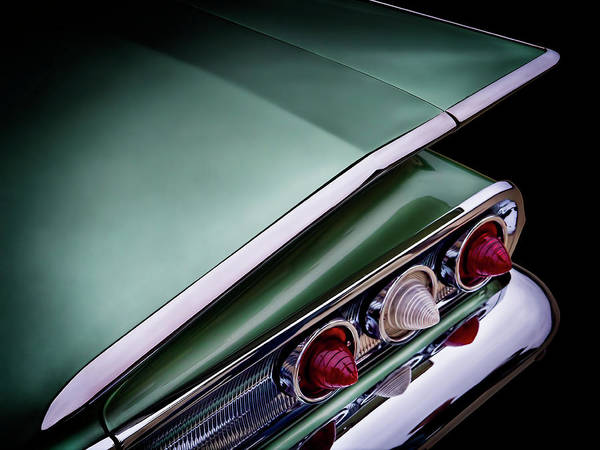 Chevrolet Digital Art - Metalic Green Impala Wing Vingage 1960 by Douglas Pittman