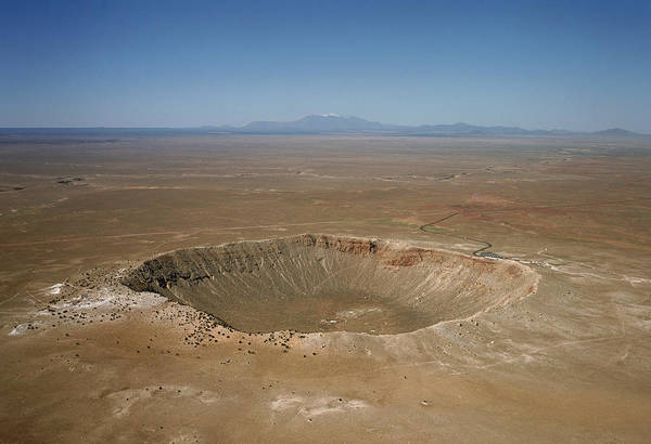 Meteor Crater Photograph - Meteor Crater, Arizona by David Parker