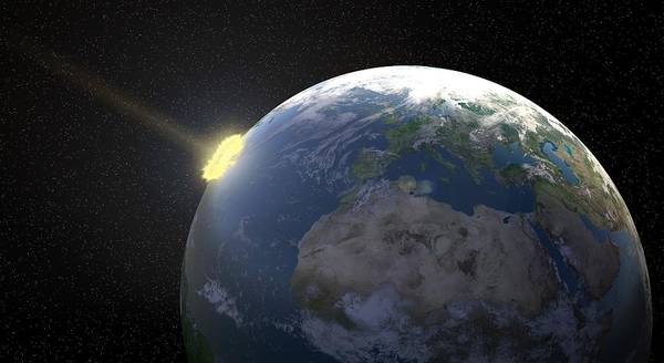 Light And Shadow Digital Art - Meteor Impact, Artwork by Andrzej Wojcicki