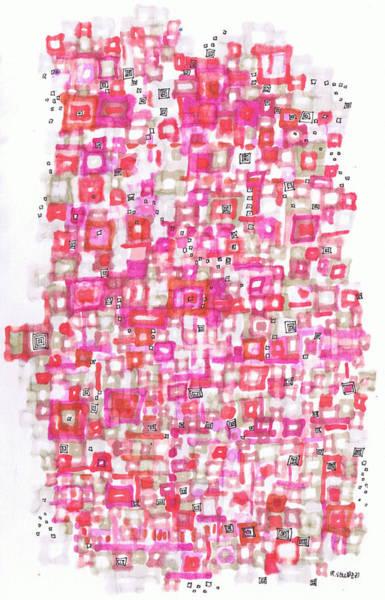 Drawing - Metropolitan Projection by Regina Valluzzi