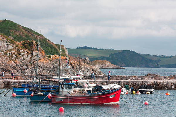 Shirleys Bay Photograph - Mevagissey Harbour by Shirley Mitchell