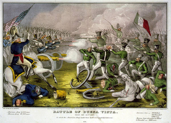 Ives Photograph - Mexican-american War. Battle Of Buena by Everett