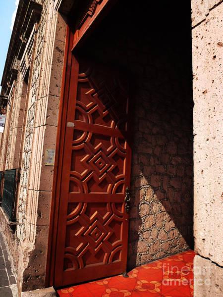 Photograph - Mexican Door 49 by Xueling Zou