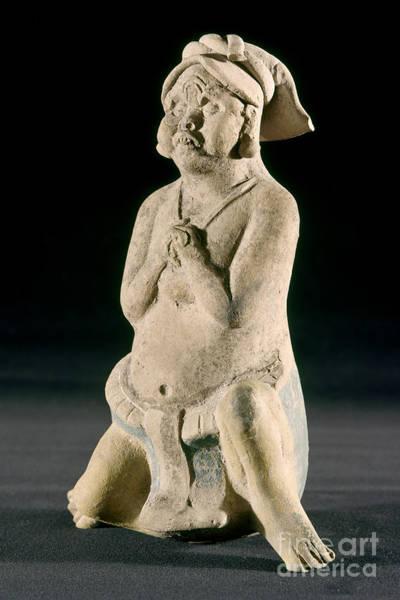 Wall Art - Photograph - Mexico: Mayan Figure by Granger