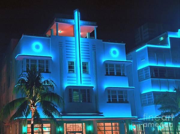 Mixed Media - Miami Deco Lights by Jerry L Barrett