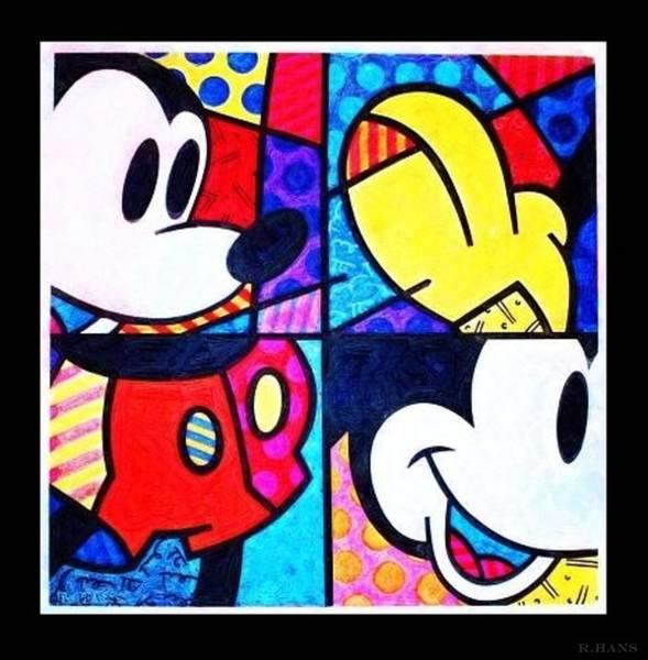 Walt Disney Word Photograph - Mickey Colors by Rob Hans
