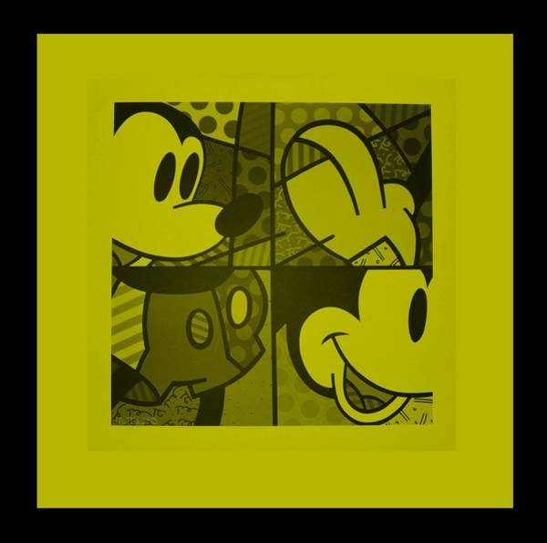 Disney World Digital Art - Mickey In Yellow by Rob Hans