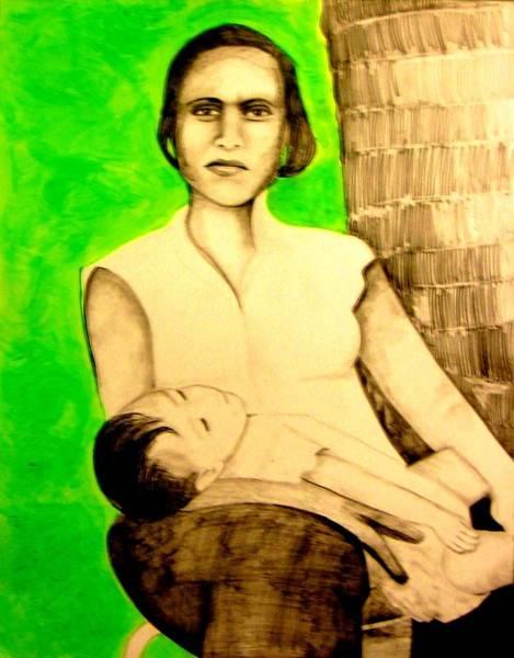 Mixed Media - Micronesia Mama by Michelle Dallocchio