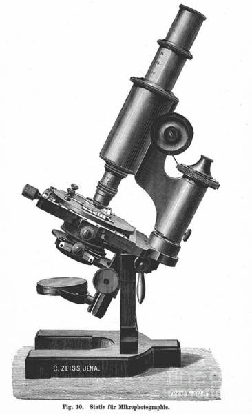 Catalog Photograph - Microscope, 1889 by Granger